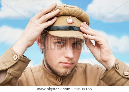 Portrait Of Soldier In Retro Style Picture
