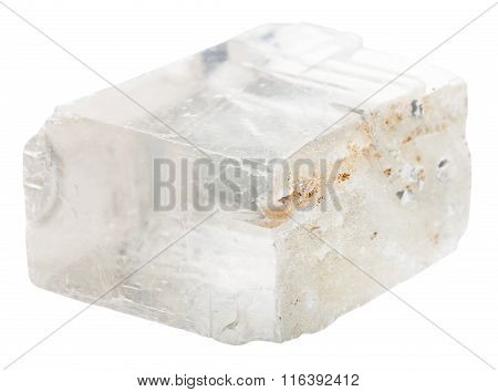 Iceland Spar Mineral Stone Isolated On White