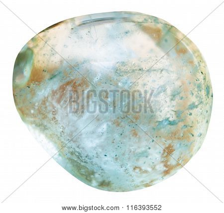 Tubmled Aquamarine (blue Beryl) Mineral Gem