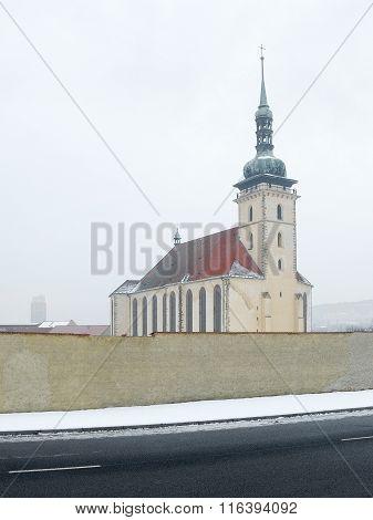 9.1.2016 - Most, Czech Republic - church Nanebevzeti Panny Marie after reconstruction, this church w