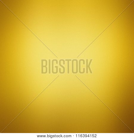 Abstract Gold Background Yellow Color, Light Corner Spotlight, Faint Vintage Grunge Background Textu