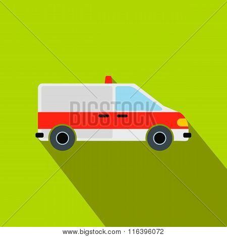 Ambulance car flat icon