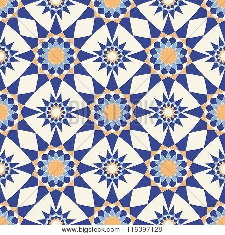 Abstract geometric seamless pattern. Vector illustration.