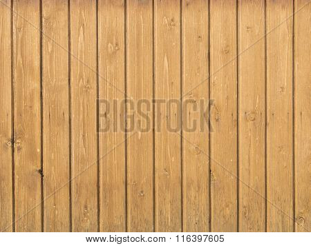 Old Wooden Pine Boards On The Wall