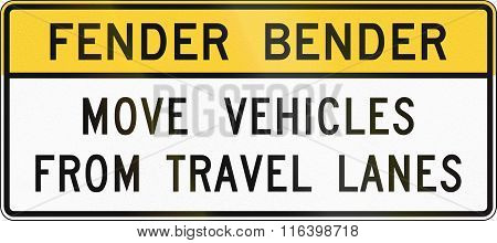 United States Mutcd Road Sign - Fender Bender