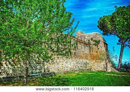Antique Wall In San Gimignano