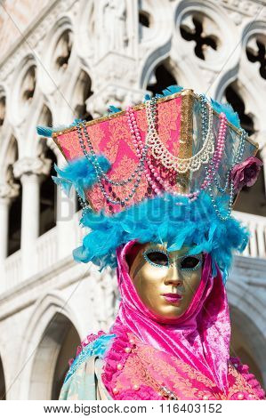 Venetian mask at the Doge's Palace in Venice