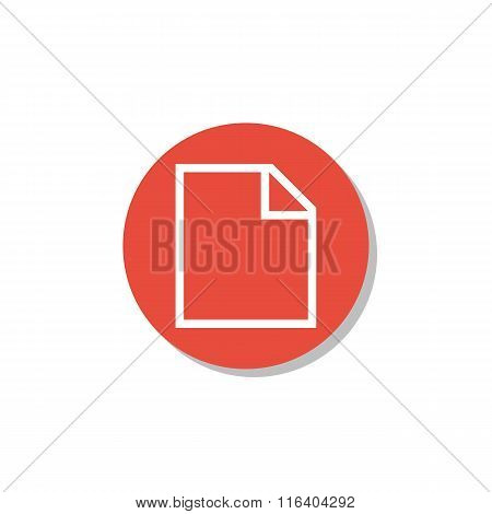 File Icon On Red Circle Background