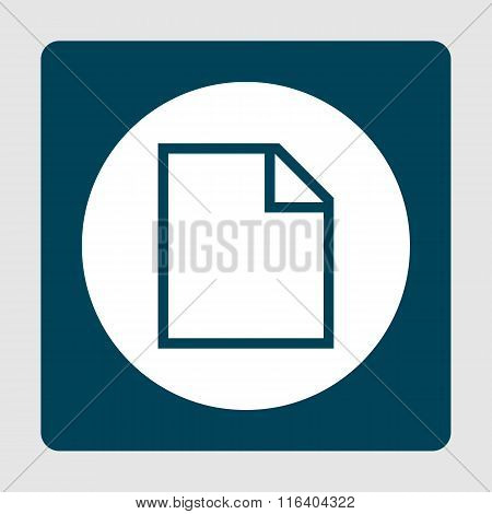 File Blue Icon On Button Style Background