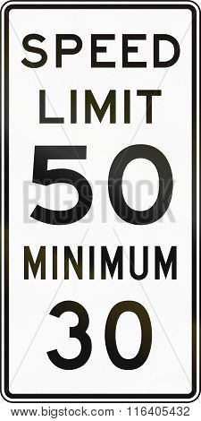 United States Mutcd Regulatory Road Sign - Speed Limit