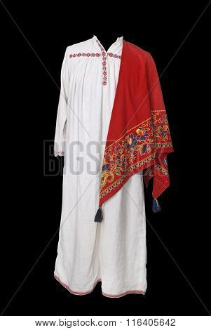 Traditional Peasant Costume Of 19th Century