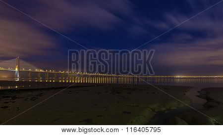 Vasco Da Gama Bridge In Lisbon.