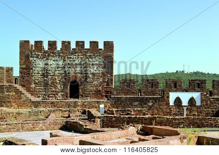 Silves historical castle in the Algarve, Portugal