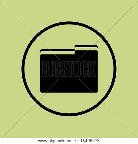 Folder Icon On Circle Background