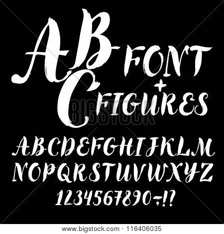 Calligraphy Vector Font And Figures