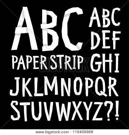 Hand Drawn Vector Font With Shadows