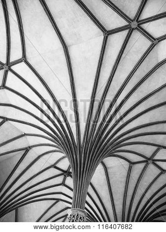 Gothic rib vault ceiling