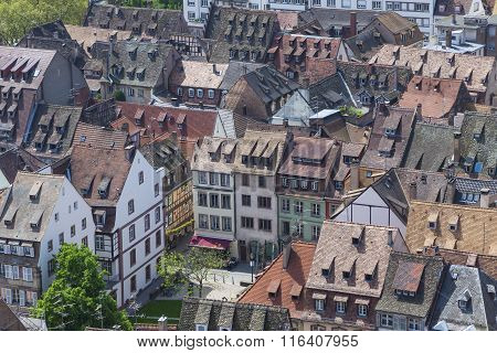 Roofs Of Strasbourg City, Alsace, France