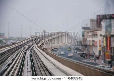 View Of Dubai Metro