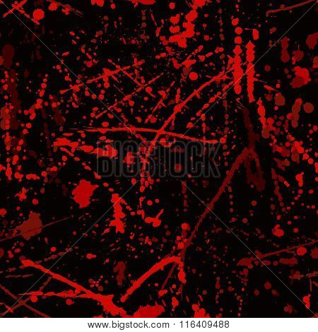Seamless pattern with blood stains.