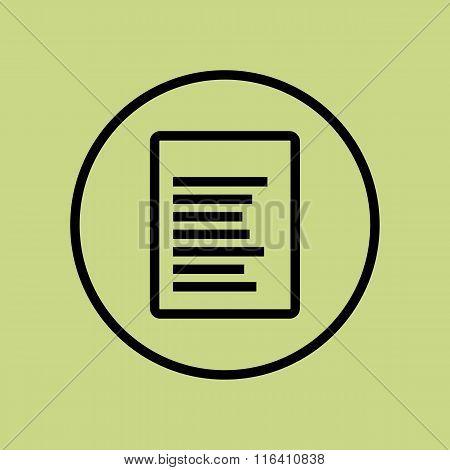 File Icon On Circle Background