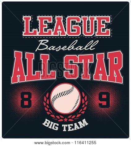 Baseball All-Star Logo Tee Graphic Design