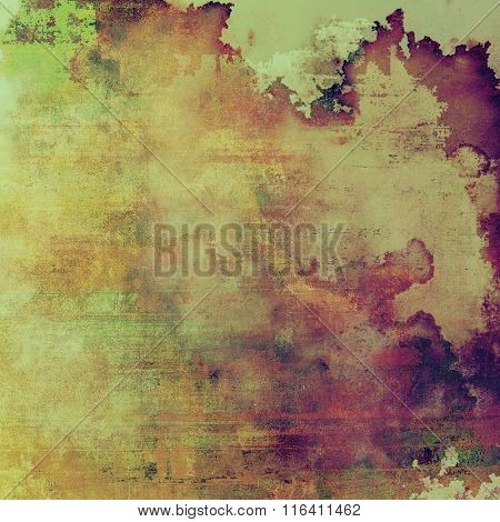 Old abstract grunge background, aged retro texture. With different color patterns: yellow (beige); brown; pink; purple (violet); green