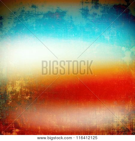 Abstract rough grunge background, colorful texture. With different color patterns: yellow (beige); red (orange); blue; white; cyan