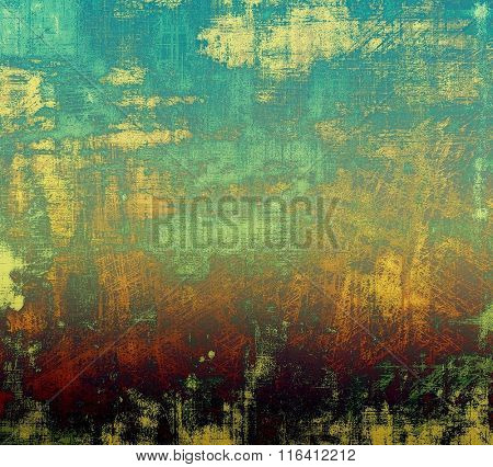 Vintage spotted textured background. With different color patterns: yellow (beige); brown; red (orange); blue; green