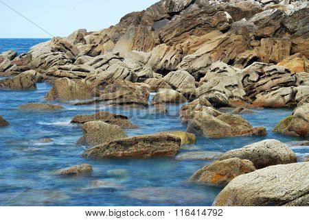 Atlantic Coast With Big Stones