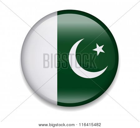 Pakistan Button Flag