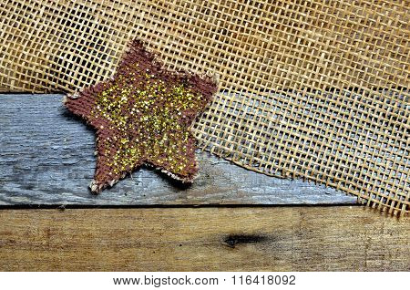 Sparkle and twinkle star on pallet and mesh background