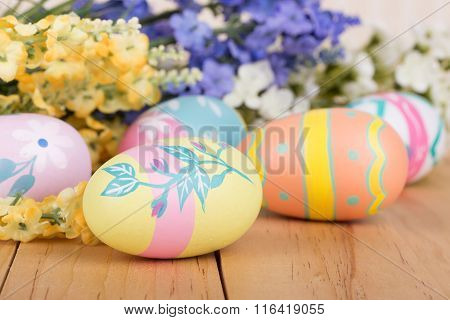 Assortment Of Painted Easter Eggs