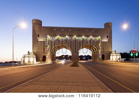 Gate To The Town Of Bahla, Oman