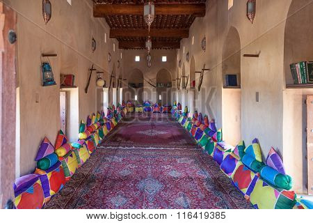 Traditional Arabic Room In A Museum In Oman