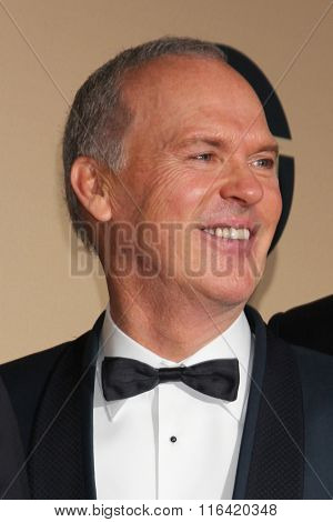 LOS ANGELES - JAN 30:  Michael Keaton at the 22nd Screen Actors Guild Awards at the Shrine Auditorium on January 30, 2016 in Los Angeles, CA