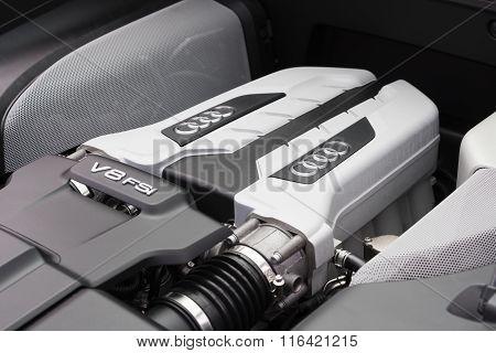 V8 FSI engine of Audi supercar