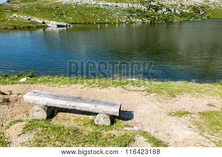 Bench At The Shore Of The Lake