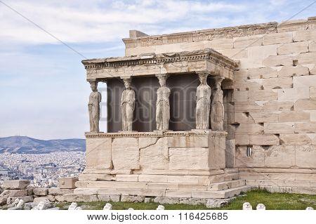 Erechtheion (erechtheum). Acropolis Of Athens.