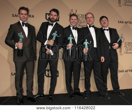 LOS ANGELES - JAN 30:  Julian Ovenden, Tom Cullen, Allen Leech, Kevin Doyle, Jeremy Swift at the 22nd Screen Actors Guild Awards at the Shrine Auditorium on January 30, 2016 in Los Angeles, CA