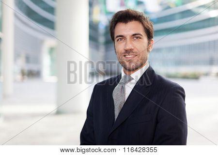 Portrait of an handsome businessman