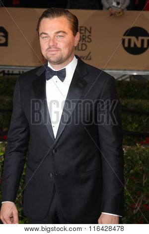 LOS ANGELES - JAN 30:  Leonardo DiCaprio at the 22nd Screen Actors Guild Awards at the Shrine Auditorium on January 30, 2016 in Los Angeles, CA