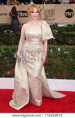 LOS ANGELES - JAN 30:  Christiina Hendricks at the 22nd Screen Actors Guild Awards at the Shrine Auditorium on January 30, 2016 in Los Angeles, CA