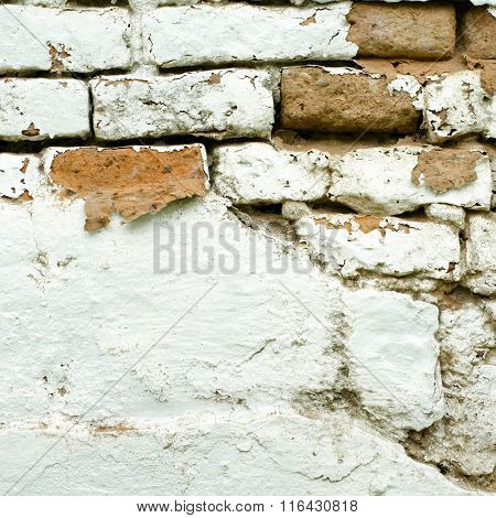 Old Wall Background. Peeling Plaster.