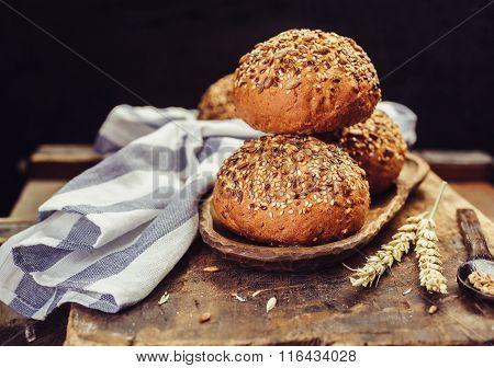 The burger buns