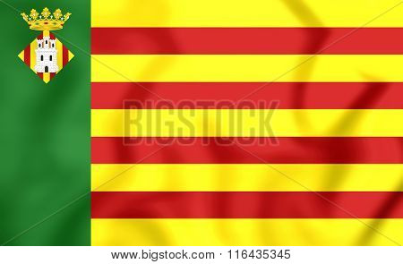 Flag Of Castellon De La Plana (valencian Community), Spain.