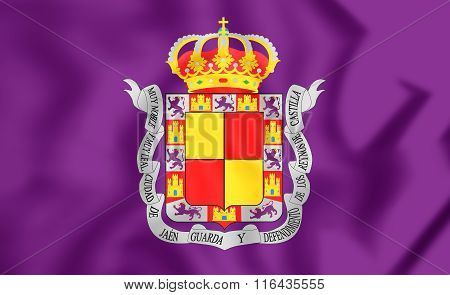 Flag Of Jaen City, Spain.