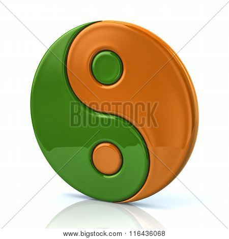 Colorful Ying Yang Symbol Of Harmony And Balance