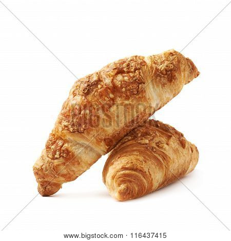 Cheese croissant pastry isolated