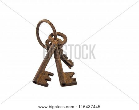 Old Key Of Isolated